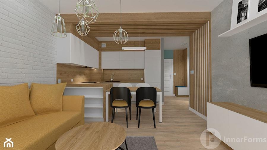 Mieszkanie w Modlnicy pod Krakowem - Salon, styl skandynawski - zdjęcie od InnerForms