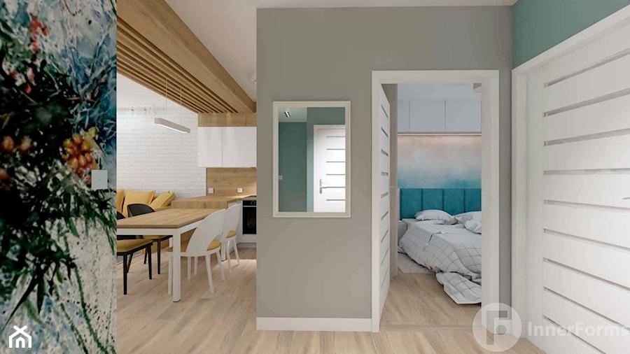 Mieszkanie w Modlnicy pod Krakowem - Hol / przedpokój, styl skandynawski - zdjęcie od InnerForms
