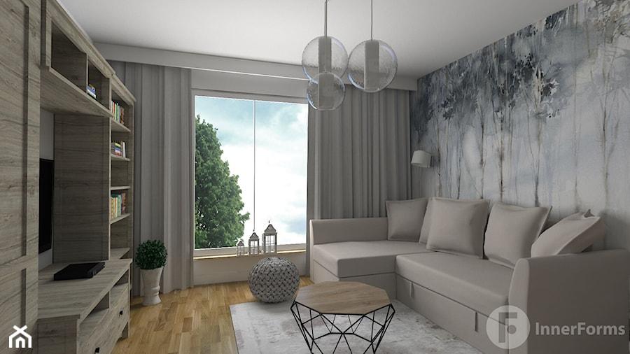 Dwupoziomowy apartament w Dębnikach, Kraków - Salon, styl nowoczesny - zdjęcie od InnerForms