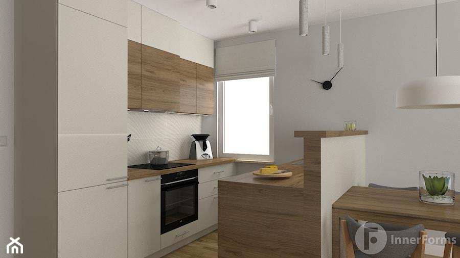 Dwupoziomowy apartament w Dębnikach, Kraków - Kuchnia, styl nowoczesny - zdjęcie od InnerForms