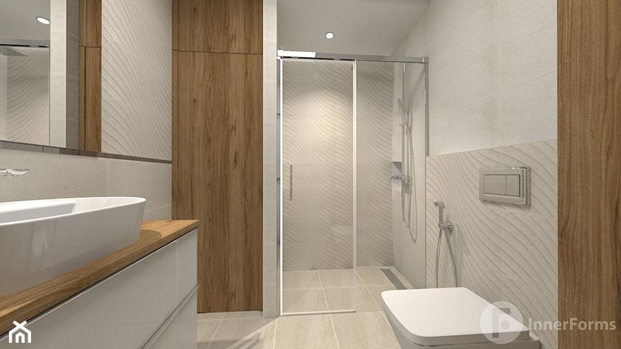 Dwupoziomowy apartament w Dębnikach, Kraków - Łazienka, styl nowoczesny - zdjęcie od InnerForms