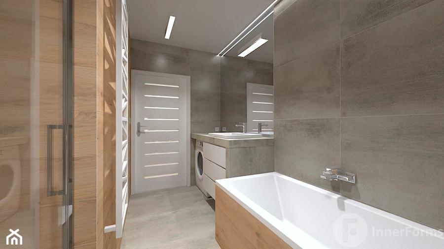 Mieszkanie w Modlnicy pod Krakowem - Łazienka, styl skandynawski - zdjęcie od InnerForms