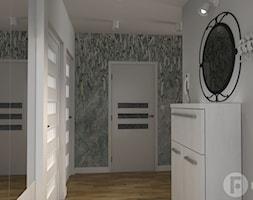Dwupoziomowy apartament w Dębnikach, Kraków - Hol / przedpokój, styl nowoczesny - zdjęcie od InnerForms - Homebook
