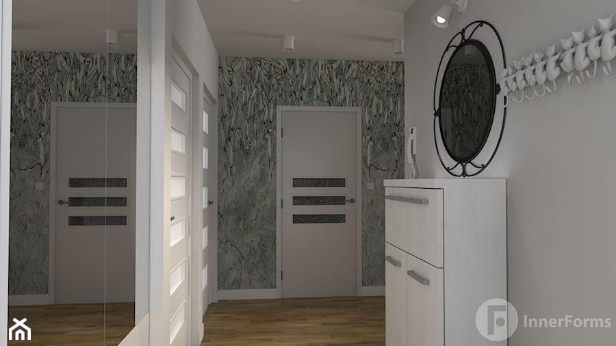 Dwupoziomowy apartament w Dębnikach, Kraków - Hol / przedpokój, styl nowoczesny - zdjęcie od InnerForms
