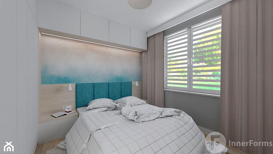 Mieszkanie w Modlnicy pod Krakowem - Sypialnia, styl skandynawski - zdjęcie od InnerForms