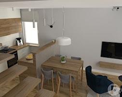 Dwupoziomowy apartament w Dębnikach, Kraków - Salon, styl nowoczesny - zdjęcie od InnerForms - Homebook