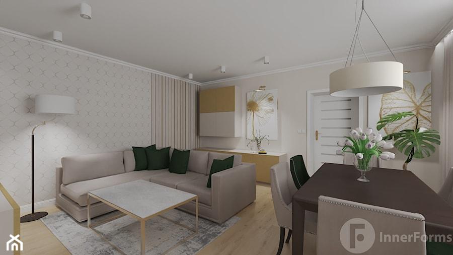 Parterowy dom pod Krakowem - Salon, styl klasyczny - zdjęcie od InnerForms