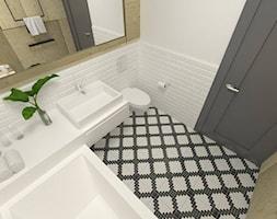 Mała biała łazienka w bloku w domu jednorodzinnym bez okna, styl minimalistyczny - zdjęcie od hashi