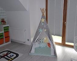 #pokojdziecka - Mały biały szary pokój dziecka dla chłopca dla dziewczynki dla malucha - zdjęcie od Izabela Królikowska