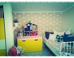 #pokojdziecka - Mały biały szary pokój dziecka dla dziewczynki dla malucha - zdjęcie od mami33
