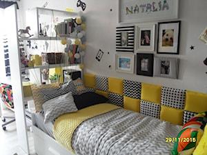 tapicerowany zagłówek/oparcie łóżka - zdjęcie od ewaawiechowska