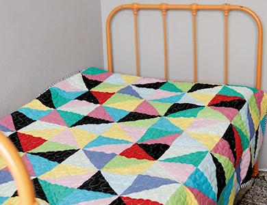 narzuta patchwork dziecięcy geometryczny - zdjęcie od dom artystyczny