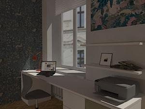 Kąt do pracy wygospodarowany w sypialni - zdjęcie od Natalia Augustynek Interior Design