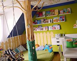 #pokojdziecka - Mały biały niebieski zielony pokój dziecka dla chłopca dla dziewczynki dla ucznia dla malucha - zdjęcie od agata.fidera@gmail.com