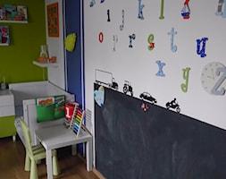 #pokojdziecka - Mały biały niebieski zielony pokój dziecka dla chłopca dla dziewczynki dla ucznia dla niemowlaka dla malucha - zdjęcie od agata.fidera@gmail.com