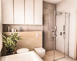 PROJEKT DOMU JEDNORODZINNEGO - GDAŃSK 2018r. - Średnia łazienka w bloku w domu jednorodzinnym z oknem, styl vintage - zdjęcie od BIBI