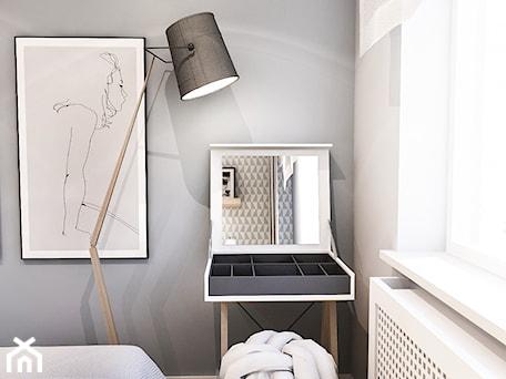 Aranżacje wnętrz - Sypialnia: PROJEKT SYPIALNI - Mała szara sypialnia małżeńska, styl skandynawski - BIBI. Przeglądaj, dodawaj i zapisuj najlepsze zdjęcia, pomysły i inspiracje designerskie. W bazie mamy już prawie milion fotografii!