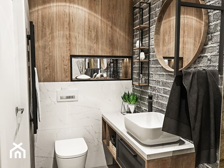 Aranżacje wnętrz - Łazienka: ŁAZIENKA MAŁA - WROCŁAW 2019 - Mała biała szara łazienka w bloku bez okna, styl vintage - BIBI. Przeglądaj, dodawaj i zapisuj najlepsze zdjęcia, pomysły i inspiracje designerskie. W bazie mamy już prawie milion fotografii!