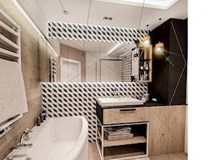 PROJEKT MIESZKANIA -Wawa Bemowo 2018 - Średnia łazienka w bloku w domu jednorodzinnym bez okna, styl industrialny - zdjęcie od BIBI