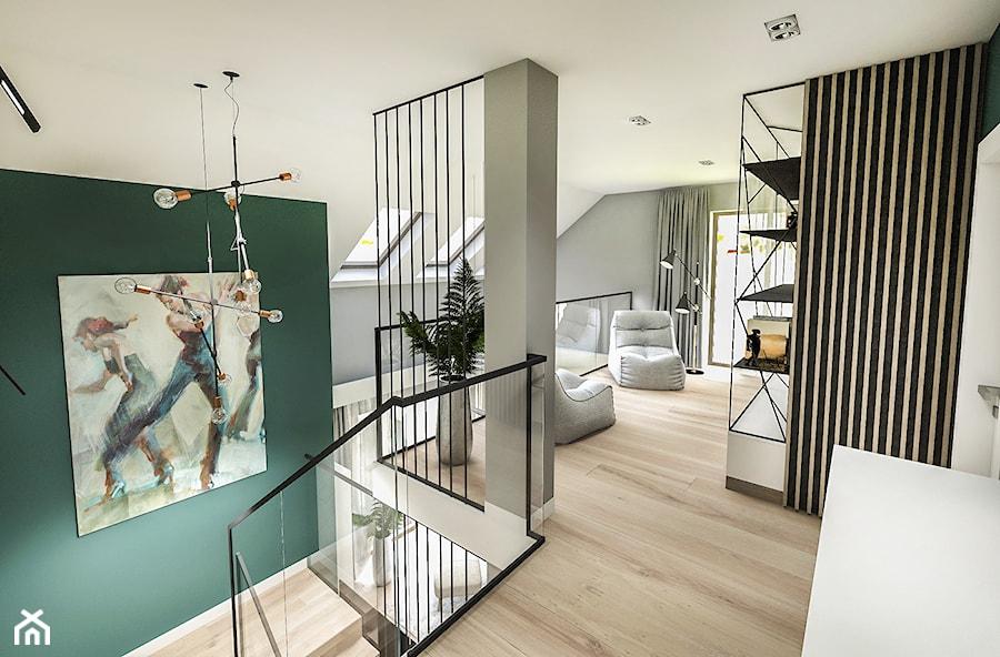 Projekt wnętrza domu pod Sewillą - Średni szary zielony hol / przedpokój - zdjęcie od BIBI