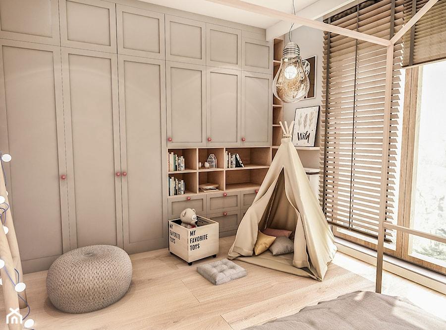 Projekt Mieszkania W-wa 2019 - Mały szary pokój dziecka dla chłopca dla dziewczynki dla malucha - zdjęcie od BIBI