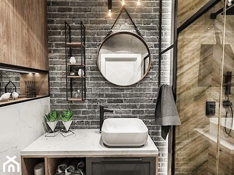 Aranżacje wnętrz - Łazienka: ŁAZIENKA MAŁA - WROCŁAW 2019 - Mała biała czarna szara łazienka bez okna, styl vintage - BIBI. Przeglądaj, dodawaj i zapisuj najlepsze zdjęcia, pomysły i inspiracje designerskie. W bazie mamy już prawie milion fotografii!