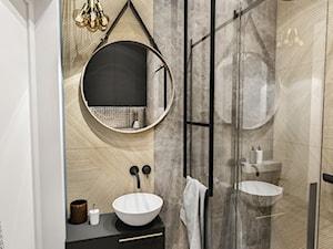 PROJEKT MIESZKANIA - WAWA-SŁUŻEW 2018 - Mała łazienka w bloku w domu jednorodzinnym bez okna, styl eklektyczny - zdjęcie od BIBI
