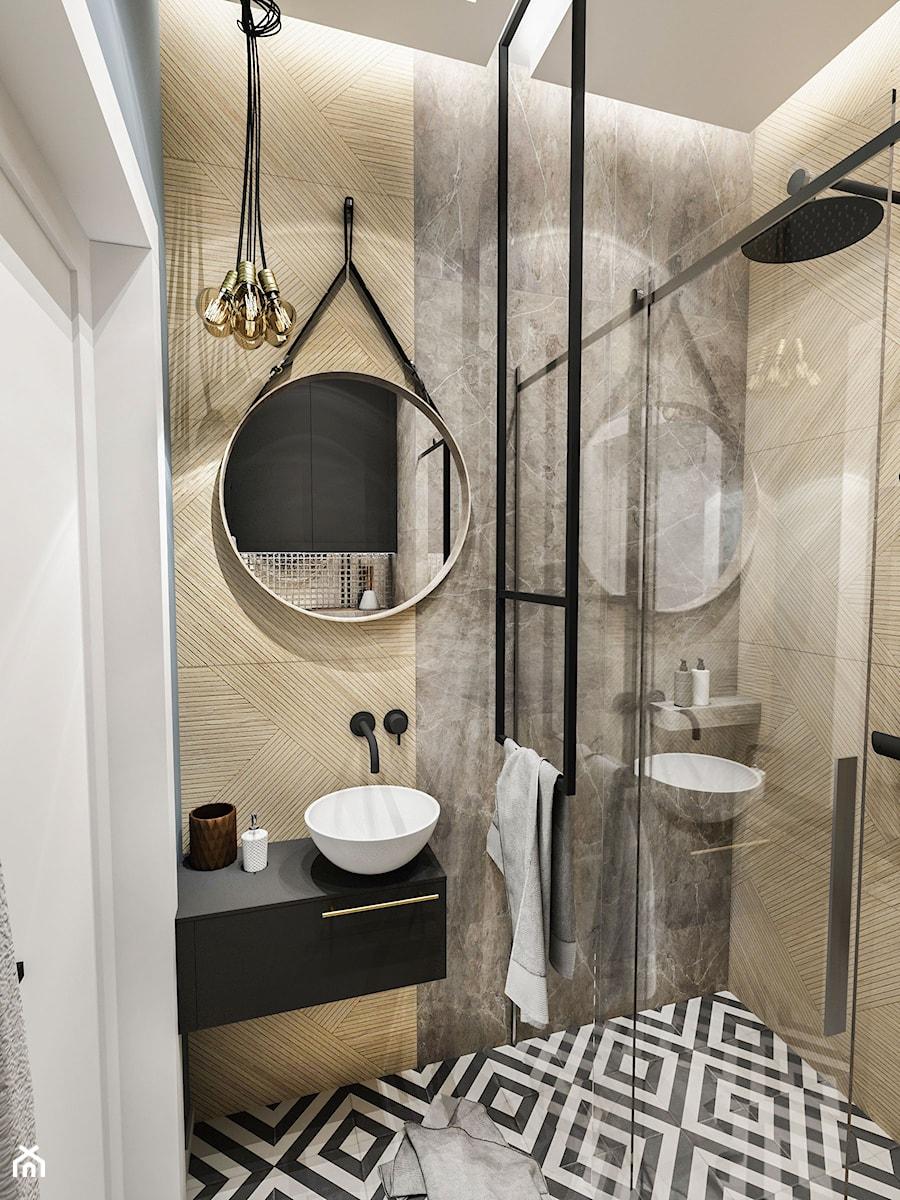 Projekt Mieszkania Wawa Służew 2018 Mała łazienka W