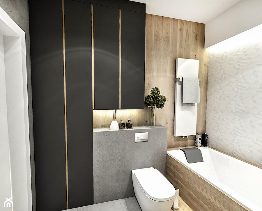 Projekt Mieszkania W Wa 2019 Srednia Czarna Lazienka W Bloku W