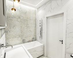 PROJEKT MIESZKANIA - WAWA-SŁUŻEW 2018 - Średnia łazienka w bloku w domu jednorodzinnym bez okna, styl klasyczny - zdjęcie od BIBI