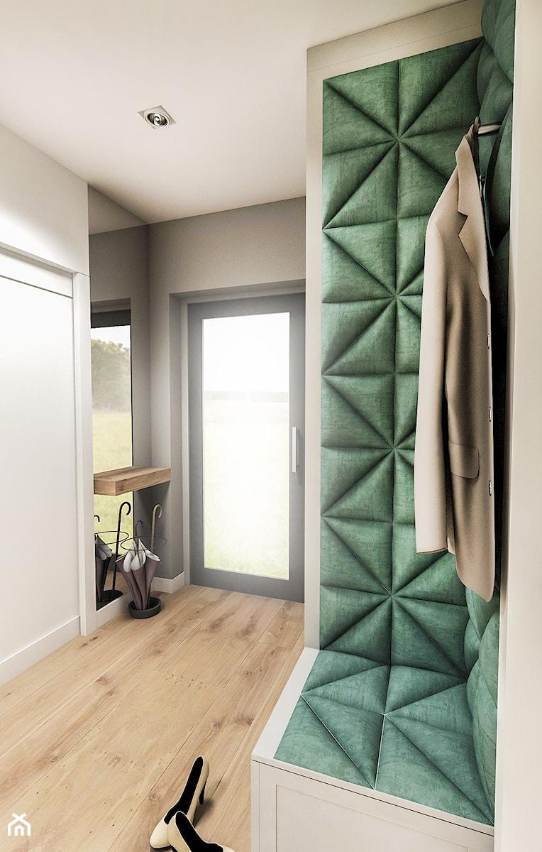 Projekt wnętrza domu pod Sewillą - Średni biały szary hol / przedpokój - zdjęcie od BIBI