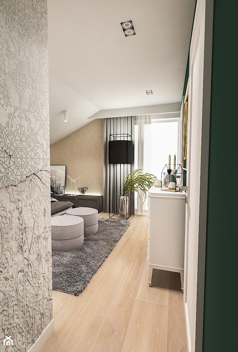 Projekt wnętrza domu pod Sewillą - Średnia biała sypialnia ...