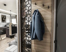 Projekt mieszkania - Gdańsk 2019 r. - Hol / przedpokój, styl nowoczesny - zdjęcie od BIBI