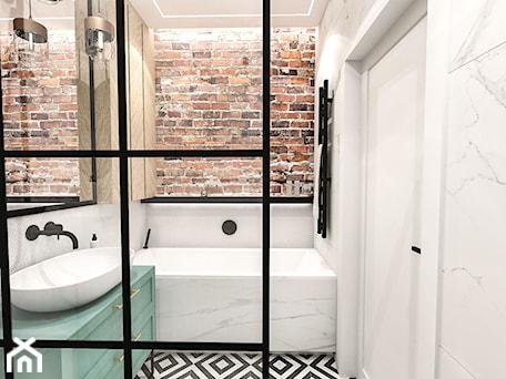 Aranżacje wnętrz - Łazienka: PROJEKT ŁAZIENKI - 6m2 - Mała łazienka w bloku w domu jednorodzinnym bez okna, styl skandynawski - BIBI. Przeglądaj, dodawaj i zapisuj najlepsze zdjęcia, pomysły i inspiracje designerskie. W bazie mamy już prawie milion fotografii!