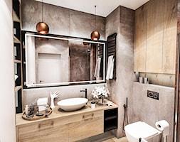 ŁAZIENKA - IRON BRONZE ŁÓDŹ 2019 - Średnia szara łazienka bez okna, styl vintage - zdjęcie od BIBI