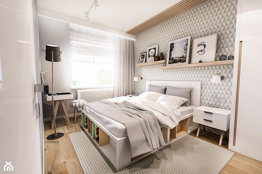 Projekt Sypialni Mała Biała Szara Sypialnia Małżeńska