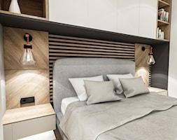 Projekt Mieszkania W-wa 2019 - Mała szara sypialnia małżeńska - zdjęcie od BIBI - Homebook