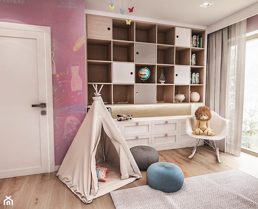 Aranżacje wnętrz - Pokój dziecka: Projekt wnętrza domu pod Sewillą - Mały szary różowy pokój dziecka dla dziewczynki dla malucha - BIBI. Przeglądaj, dodawaj i zapisuj najlepsze zdjęcia, pomysły i inspiracje designerskie. W bazie mamy już prawie milion fotografii!
