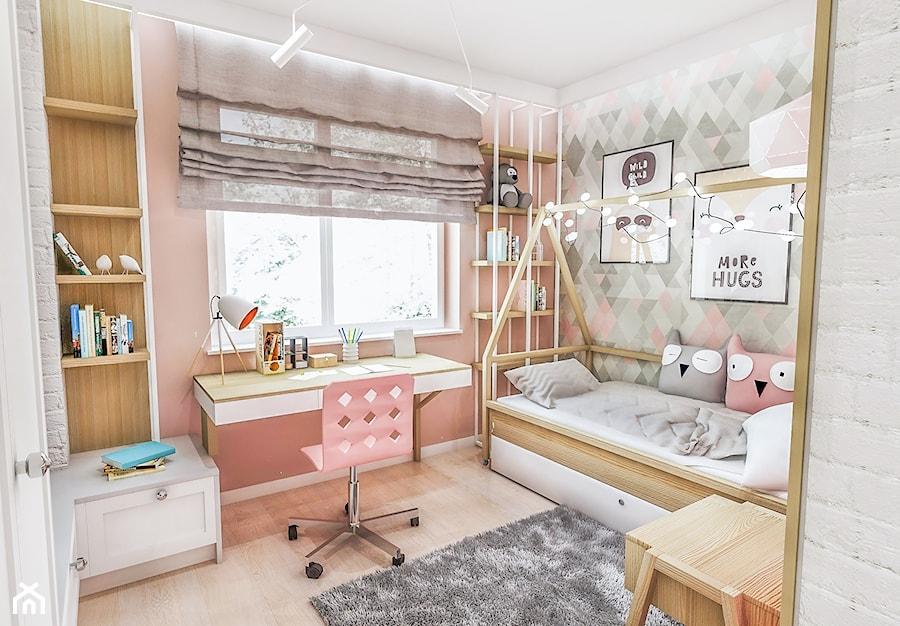 Aranżacje wnętrz - Pokój dziecka: Projekt mieszkania - Gdańsk 2019 r. - Mały szary różowy pokój dziecka dla dziewczynki dla malucha, styl vintage - BIBI. Przeglądaj, dodawaj i zapisuj najlepsze zdjęcia, pomysły i inspiracje designerskie. W bazie mamy już prawie milion fotografii!