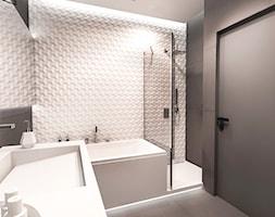 PROJEKT MIESZKANIA - ŁÓDZ 2018 - Średnia łazienka w bloku w domu jednorodzinnym bez okna - zdjęcie od BIBI - Homebook