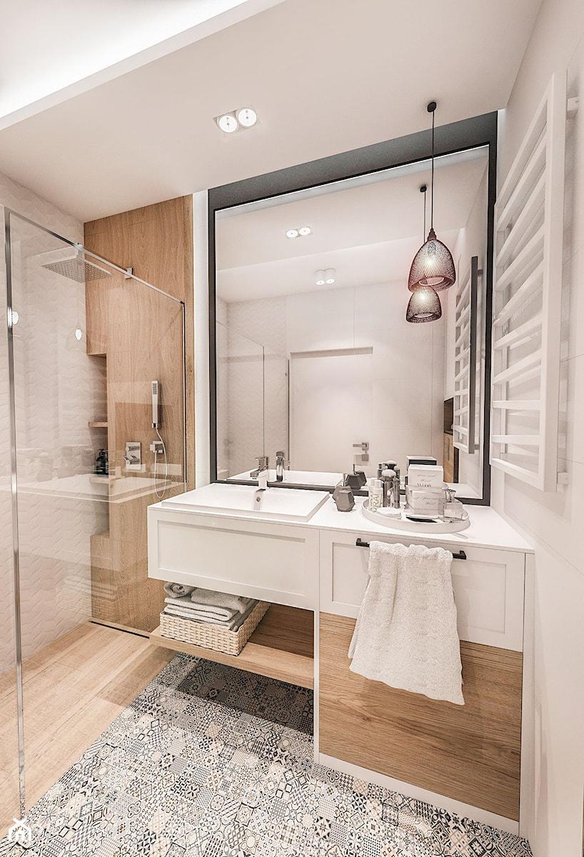 Projekt Mieszkania 50 M2 łódź 2018 Mała łazienka W Bloku