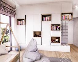 PROJEKT POKOJU CHŁOPCA - Średni biały pokój dziecka dla chłopca dla dziewczynki dla malucha dla nastolatka, styl vintage - zdjęcie od BIBI