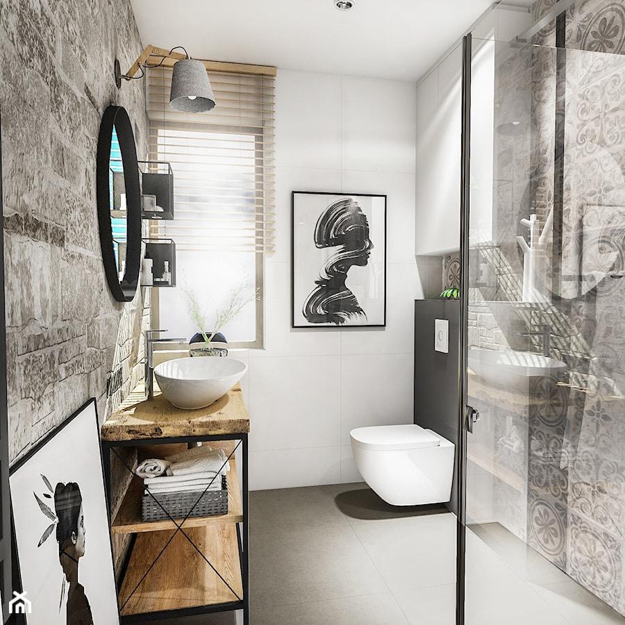 Projekt łazienki Au 2018 łazienka Styl Skandynawski
