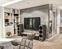 Projekt Mieszkania W-wa 2019 - Mały szary salon - zdjęcie od BIBI
