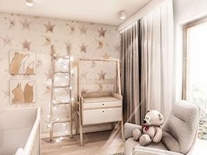 Projekt Mieszkania W-wa 2019 - Mały szary pokój dziecka dla chłopca dla dziewczynki dla niemowlaka - zdjęcie od BIBI