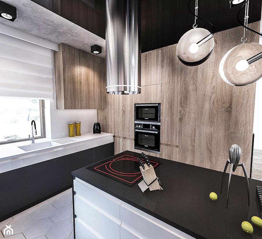 Projekt kuchni w domu jednorodzinnym - Kuchnia, styl skandynawski - zdjęcie od BIBI