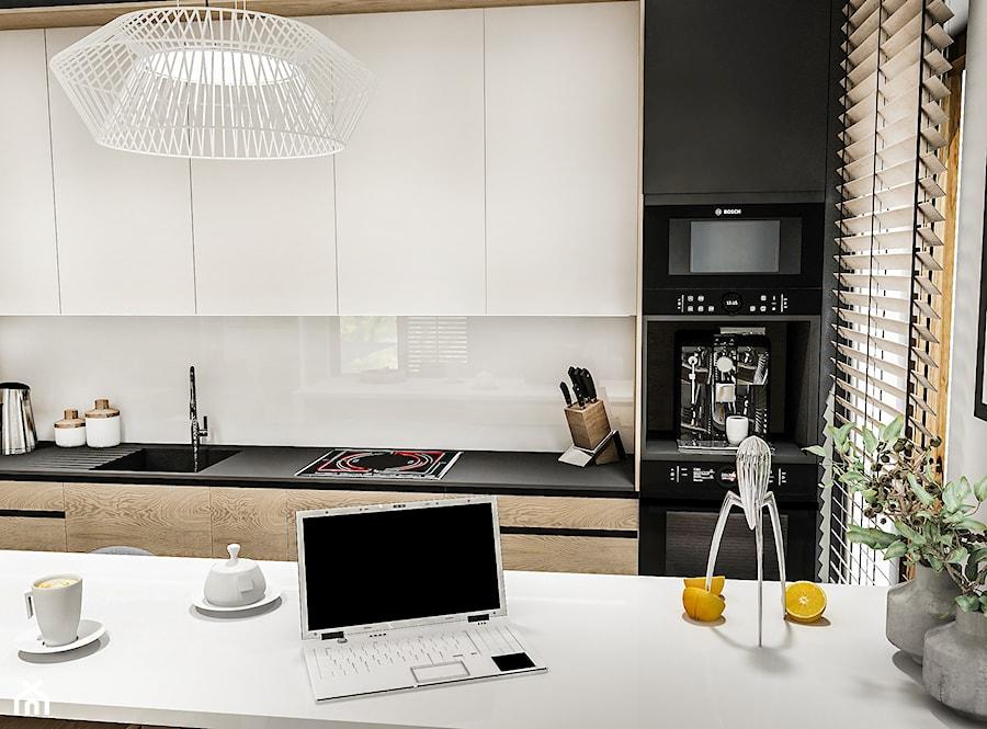 Projekt Mieszkania W-wa 2019 - Średnia kuchnia jednorzędowa z oknem - zdjęcie od BIBI