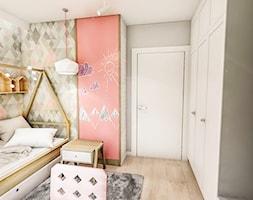 Projekt mieszkania - Gdańsk 2019 r. - Mały szary pokój dziecka dla chłopca dla dziewczynki dla malucha dla nastolatka, styl vintage - zdjęcie od BIBI