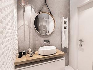 Projekt mieszkania 70m2- Wawa 2017 - Mała łazienka w bloku w domu jednorodzinnym bez okna, styl nowoczesny - zdjęcie od BIBI