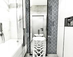PROJEKT MIESZKANIA - LDZ 2018 - Mała łazienka w bloku w domu jednorodzinnym bez okna - zdjęcie od BIBI